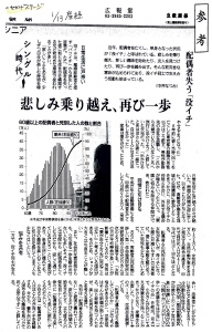 201601産経新聞「悲しみ乗り越え、再び一歩」